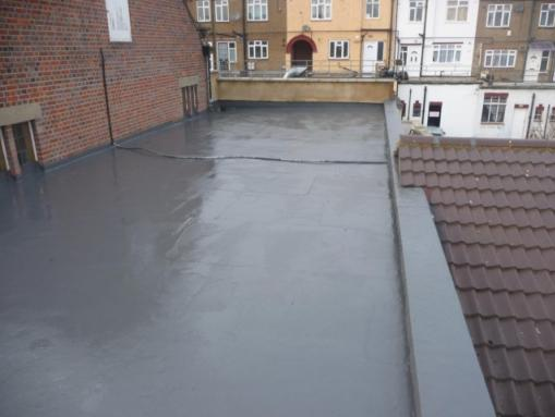 Repair flat roof create warm roof liquid polymer roofing united reformed church north london with tapered warm roof insulation sciox Gallery
